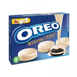 עוגיות אוראו מצופות שוקולד לבן OREO