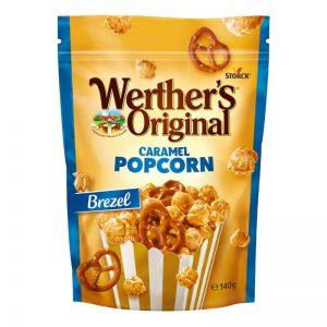 פופקורן בציפוי קרמל מתוק ובייגלה מלוח Werther's Original