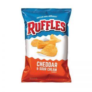 צ'יפס בטעם צ'דר ושמנת חמוצה Ruffles