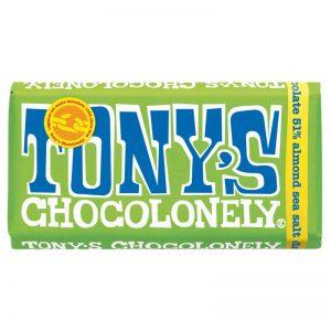 שוקולד טוניס בטעם שקדים ומלח ים Tony's