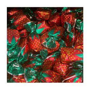 סוכריות ממולאות בטעם תות במשקל