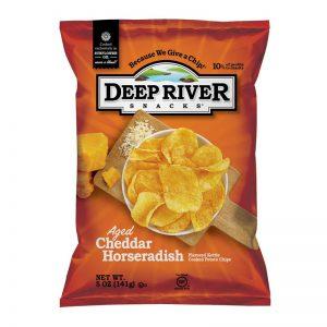 חטיף צ'יפס בטעם צ'דר וחזרת Deep River
