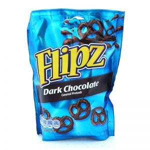 בייגלה מצופה שוקולד מריר Flipz