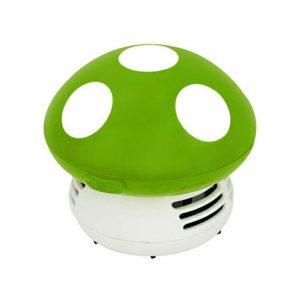 שואב אבק שולחני בעיצוב פטריה ירוק
