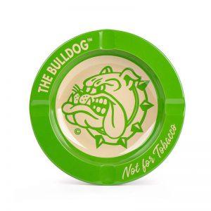 מאפרה שטוחה BULLDOG בצבע ירוק
