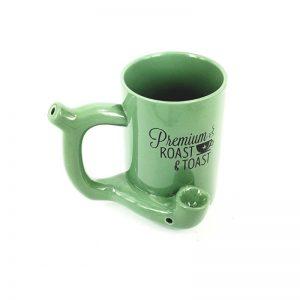 ספל עם פייפ מובנה צבע ירוק