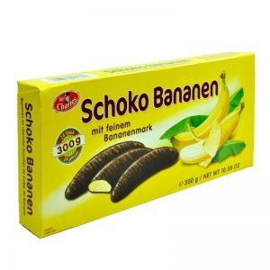 חטיף בננות מצופות שוקולד חלב Schoko Bananen