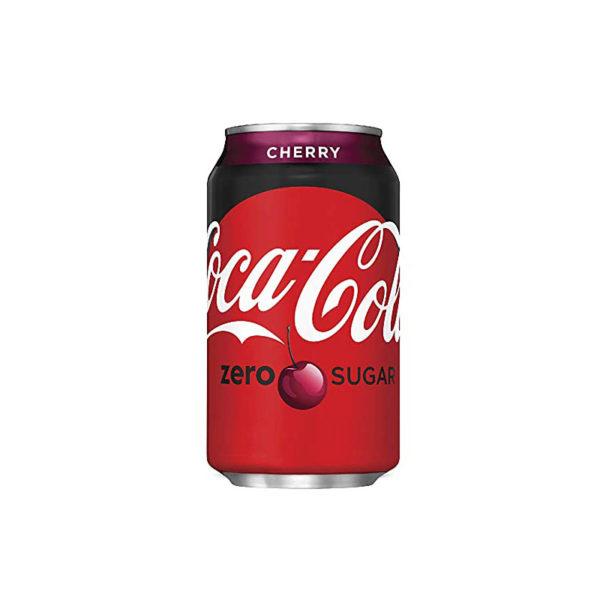 """פחית קוקה קולה דובדבן זירו 330 מ""""ל"""
