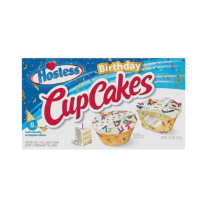 קאפקייקס בטעם עוגת יום הולדת Hostess