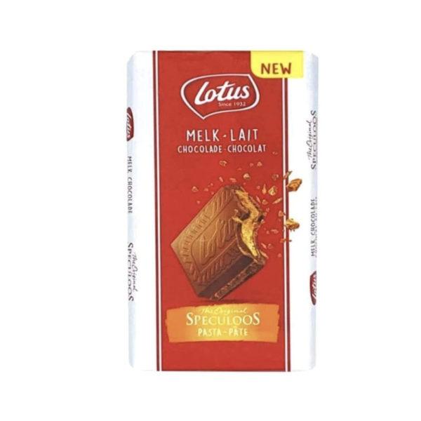 טבלת שוקולד חלב עם וופל לוטוס Lotus