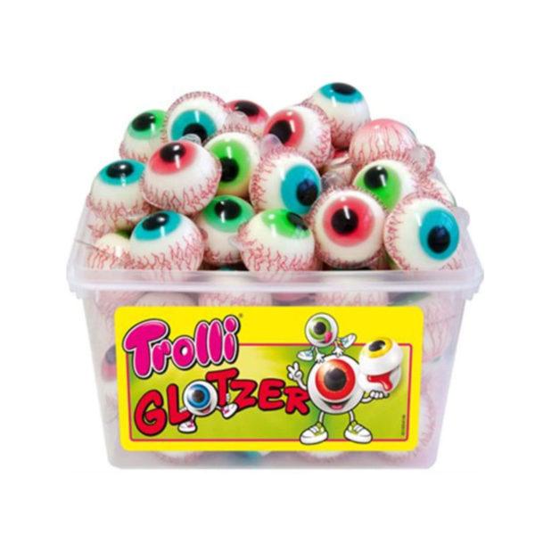 סוכריות גומי בצורת עיניים במילוי פירות Trolli
