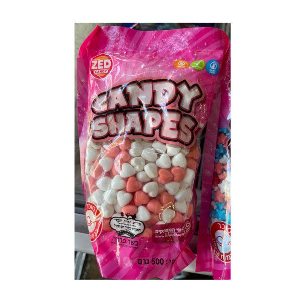 סוכריות קשות בצורת לבבות 500 גרם