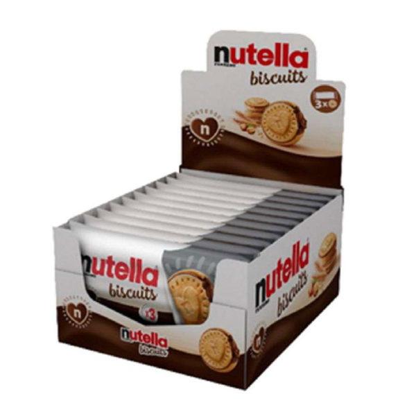חטיף אישי נוטלה ביסקוויט עוגיות ממולאות Nutella