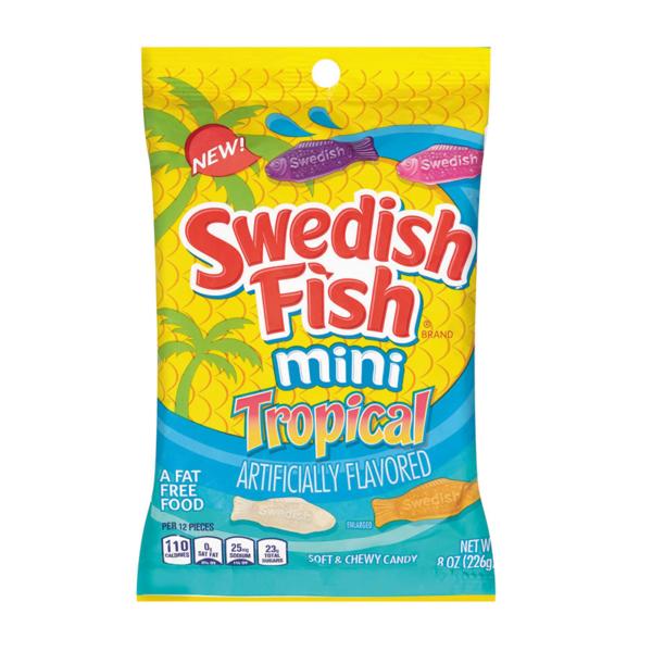 סוודיש פיש סוכריות גומי בצורת דגים Swedish Fish טרופיקל