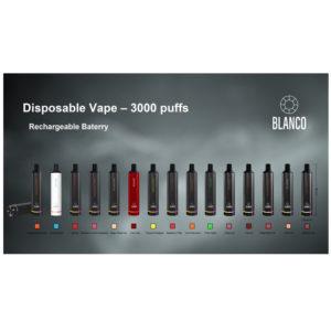סיגריה אלקטרונית חד פעמית 3000 שאיפות בטעמים BLANCO