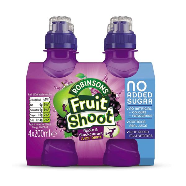 מארז 4 יחידות משקה בטעם תפוח ודומדמניות שחורות Fruit Shoot